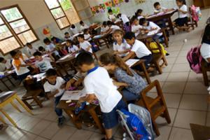Die Schüler lernen den Vokal